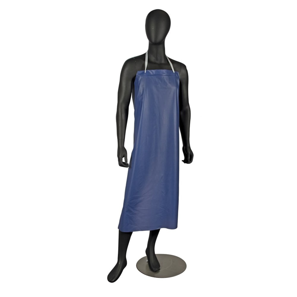 "San Jamar 614DVA-BL Vinyl Dishwashing Apron, Heavy Duty Ties, 8 mil, 36 x 45"", Blue"