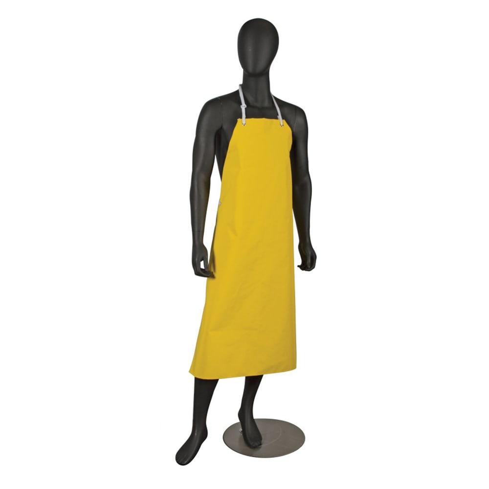 "San Jamar 615NBA-Y Neoprene Bib Apron, 36 x 43"", Heat / Fire / Cut Resistant, Yellow"