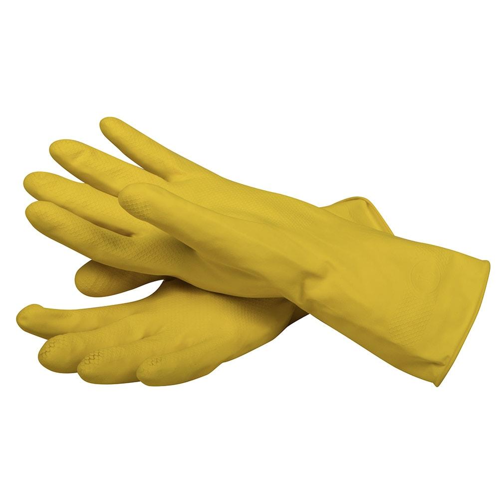 San Jamar 620-S Latex Dishwashing Glove, Small, Flock Lining, Embossed Grip, Yellow