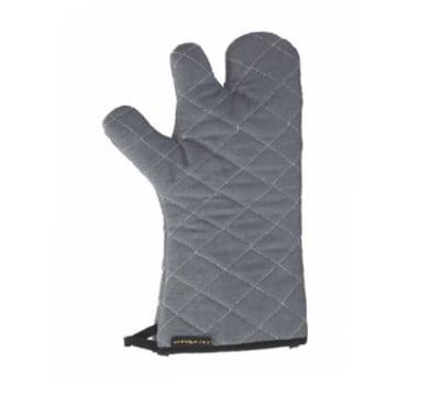 San Jamar 850TF15-GY Cotton Oven Mitt, 15-in, Heavy Knit Interior, Ambidextrous, Grey