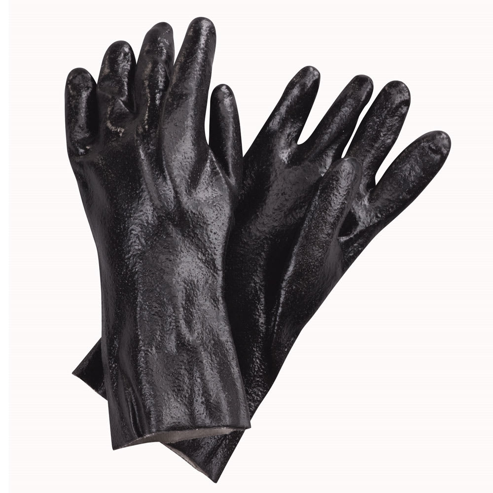 "San Jamar 887 Dishwashing Gloves, PVC,18"", One Size, Rough Grip"