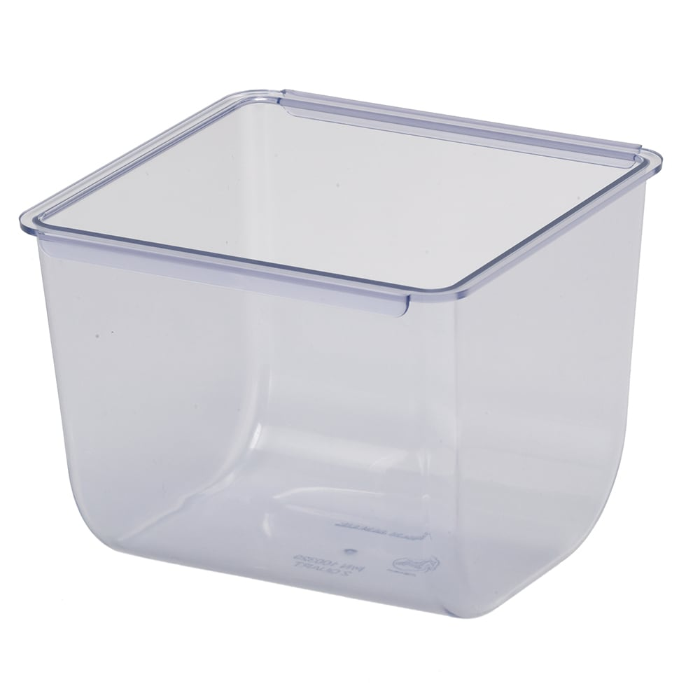 San Jamar BD104 The Dome Kolor-Cut Domed Condiment Center 2 Quart Tray