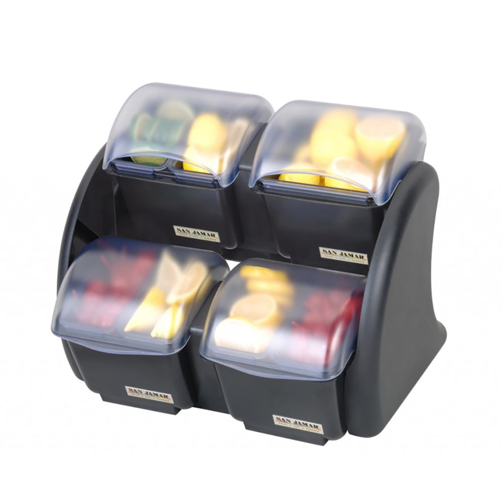 San Jamar BDS2483NL Mini Dome Stacker (2/2) w/ 4 Compartments, 5 qt Capacity