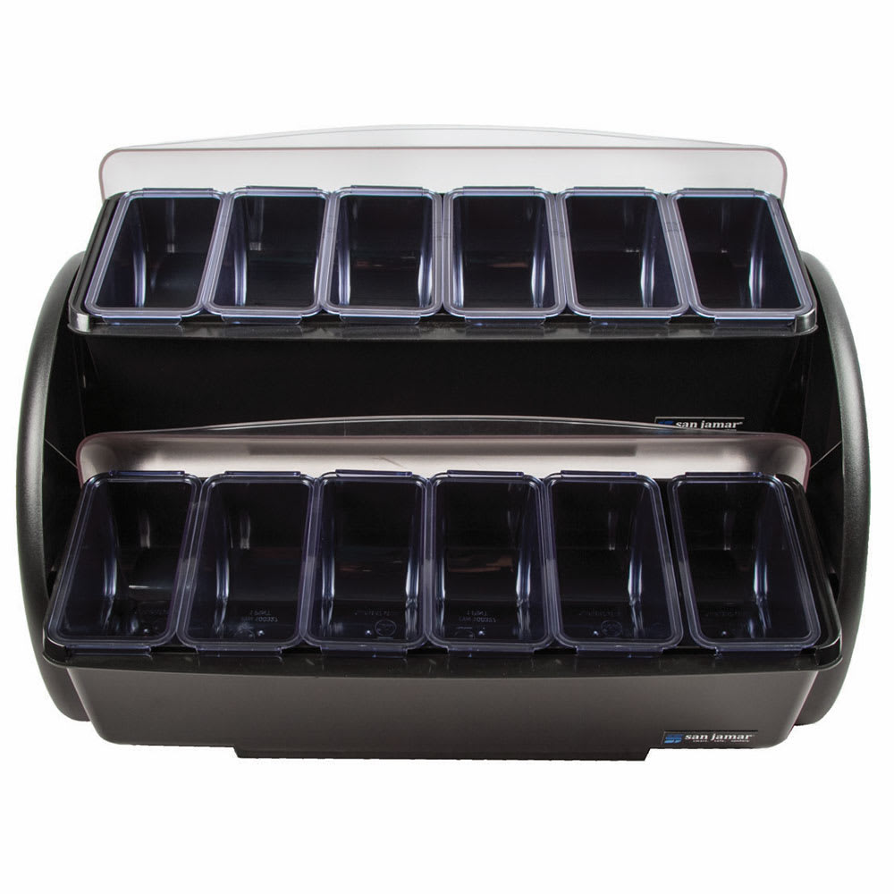 San Jamar BDS4206 Dome Stacker w/ (12)1-pt Standard Trays &Space Saving Small Footprint