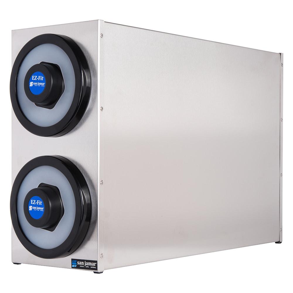 San Jamar C2802 EZ-Fit Box System, 2 One Size Fits All Dispensers, SS