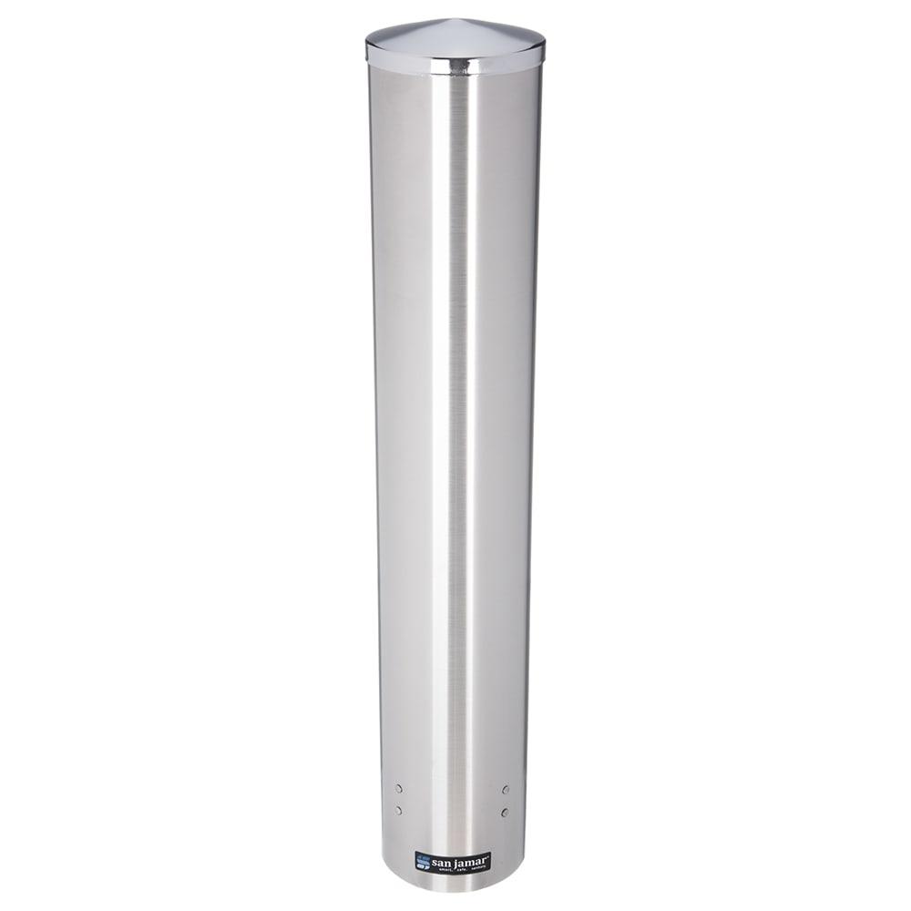 San Jamar C4400PF Pull Type Foam Beverage Cup Dispenser, 12-24 oz, SS