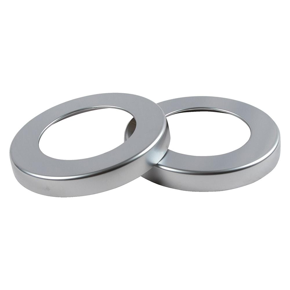 "San Jamar C52XC Euro Trim Ring for C5250C, 6.34"" Dia, Metal Finish"