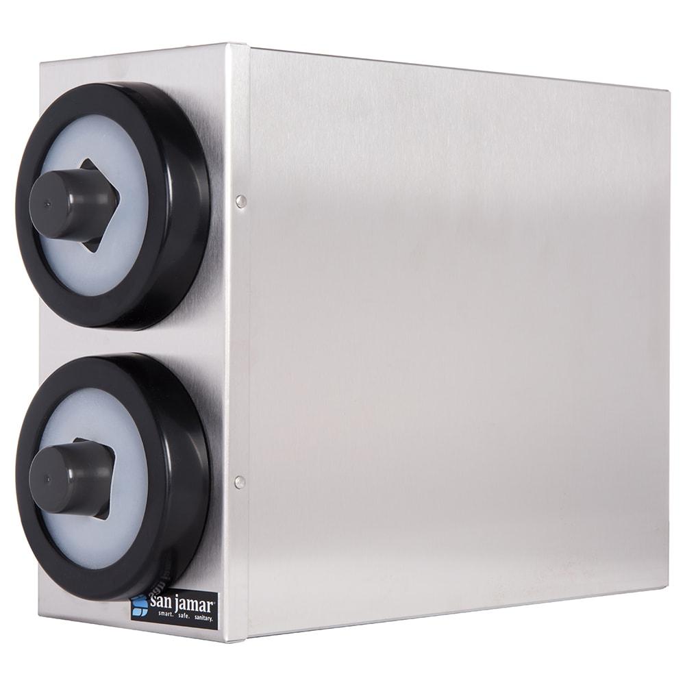 San Jamar C9002 EZ-Fit Box System, 2 Portion Cup Dispensers, SS