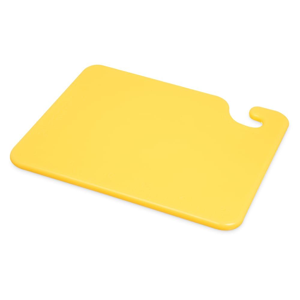 San Jamar CB101212YL Cut-N-Carry Cutting Board, 10 x 12 x 1/2 in, NSF, Yellow