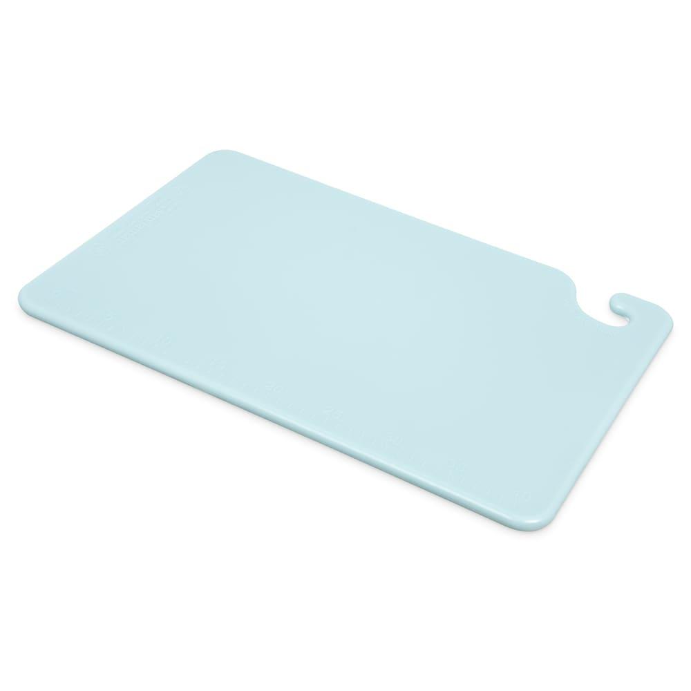 San Jamar CB121812BL Cut-N-Carry Cutting Board, 12 x 18 x 1/2 in, NSF, Blue