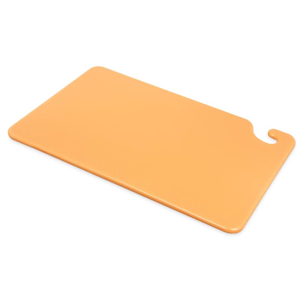 San Jamar CB121812BR Cut-N-Carry Cutting Board, 12 x 18 x 1/2 in, NSF, Brown