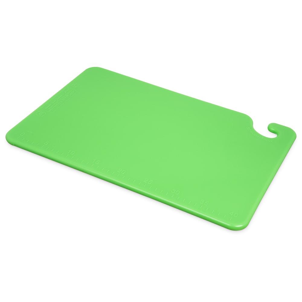 San Jamar CB121812GN Cut-N-Carry Cutting Board, 12 x 18 x 1/2 in, NSF, Green