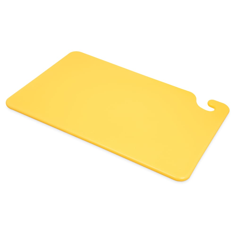 San Jamar CB121812YL Cut-N-Carry Cutting Board, 12 x 18 x 1/2 in, NSF, Yellow