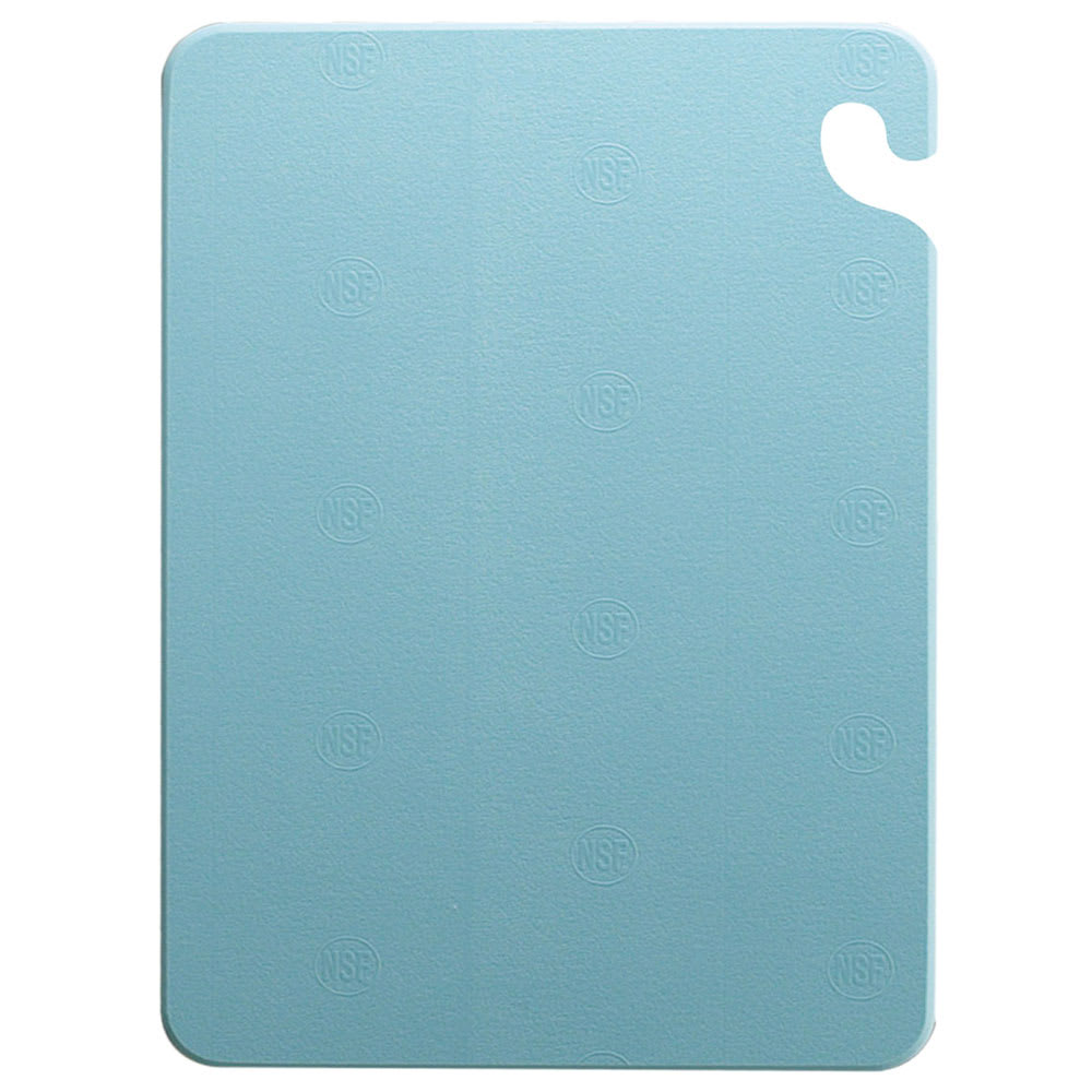 San Jamar CB121834BL Cut-N-Carry Cutting Board, 12 x 18 x 3/4 in, NSF, Blue
