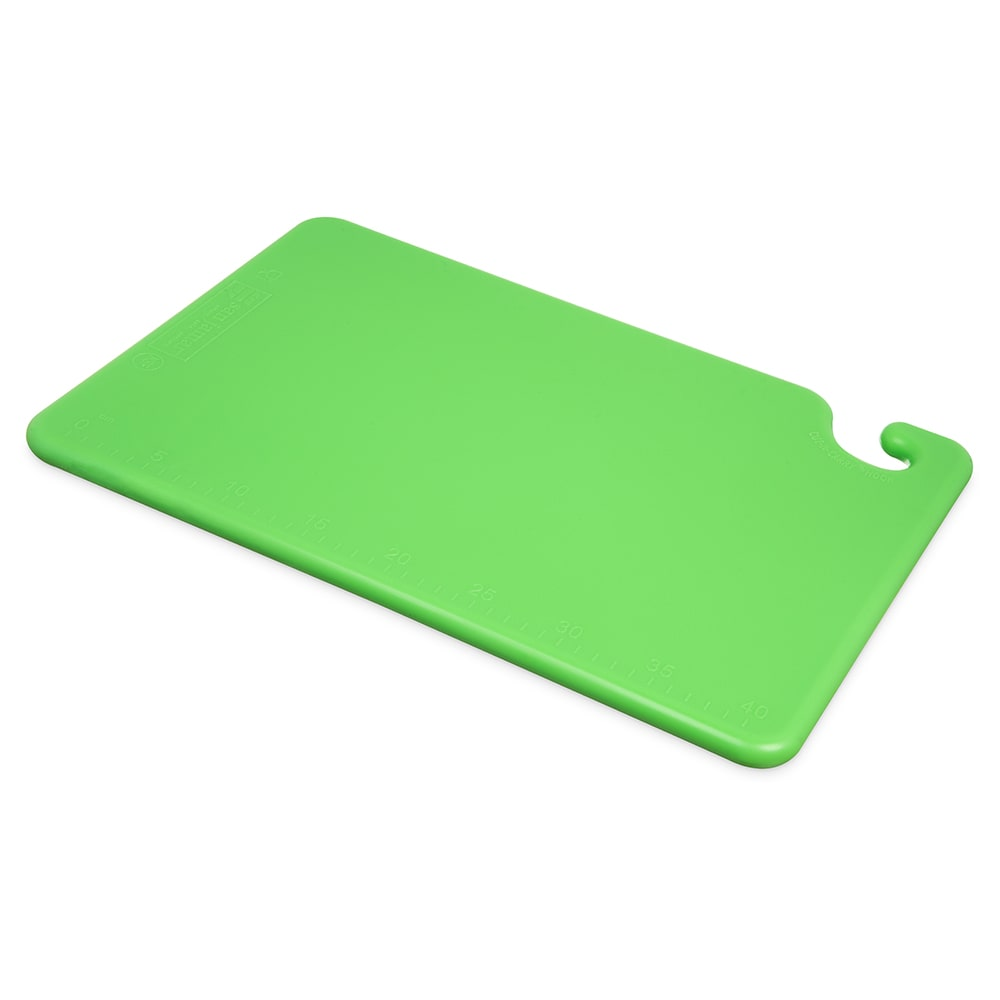 San Jamar CB121834GN Cut-N-Carry Cutting Board, 12 x 18 x 3/4 in, NSF, Green