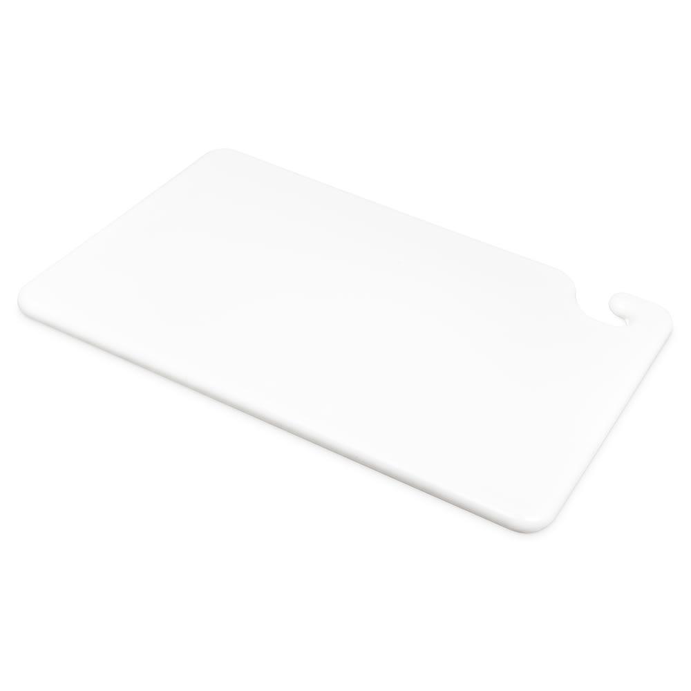 San Jamar CB121834WH Cut-N-Carry Cutting Board, 12 x 18 x 3/4 in, NSF, White