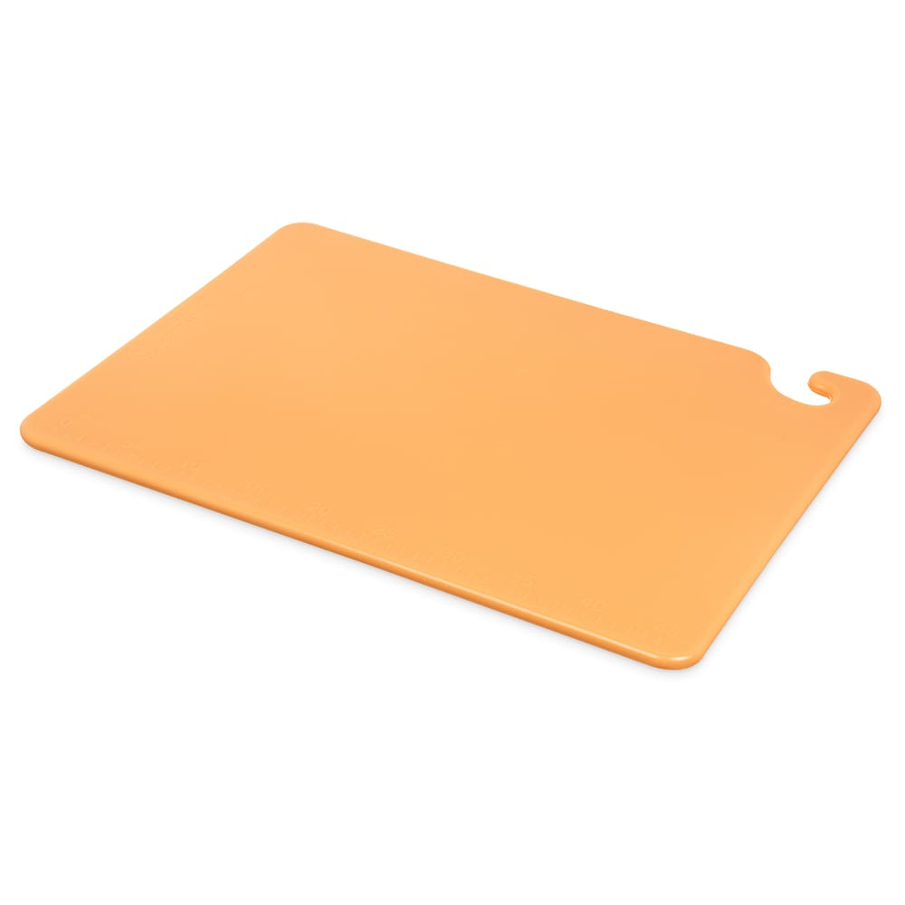 San Jamar CB152012BR Cut-N-Carry Cutting Board, 15 x 20 x 1/2 in, NSF, Brown