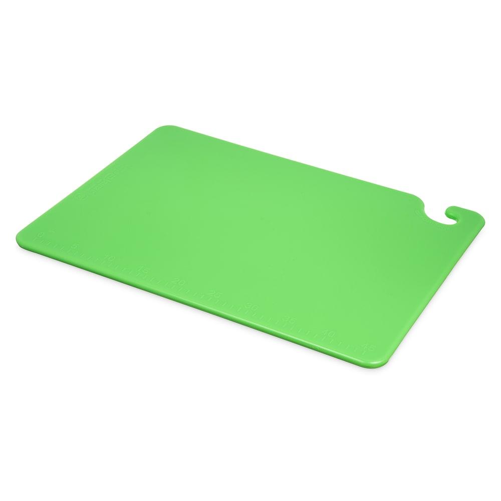 San Jamar CB152012GN Cut-N-Carry Cutting Board, 15 x 20 x 1/2 in, NSF, Green