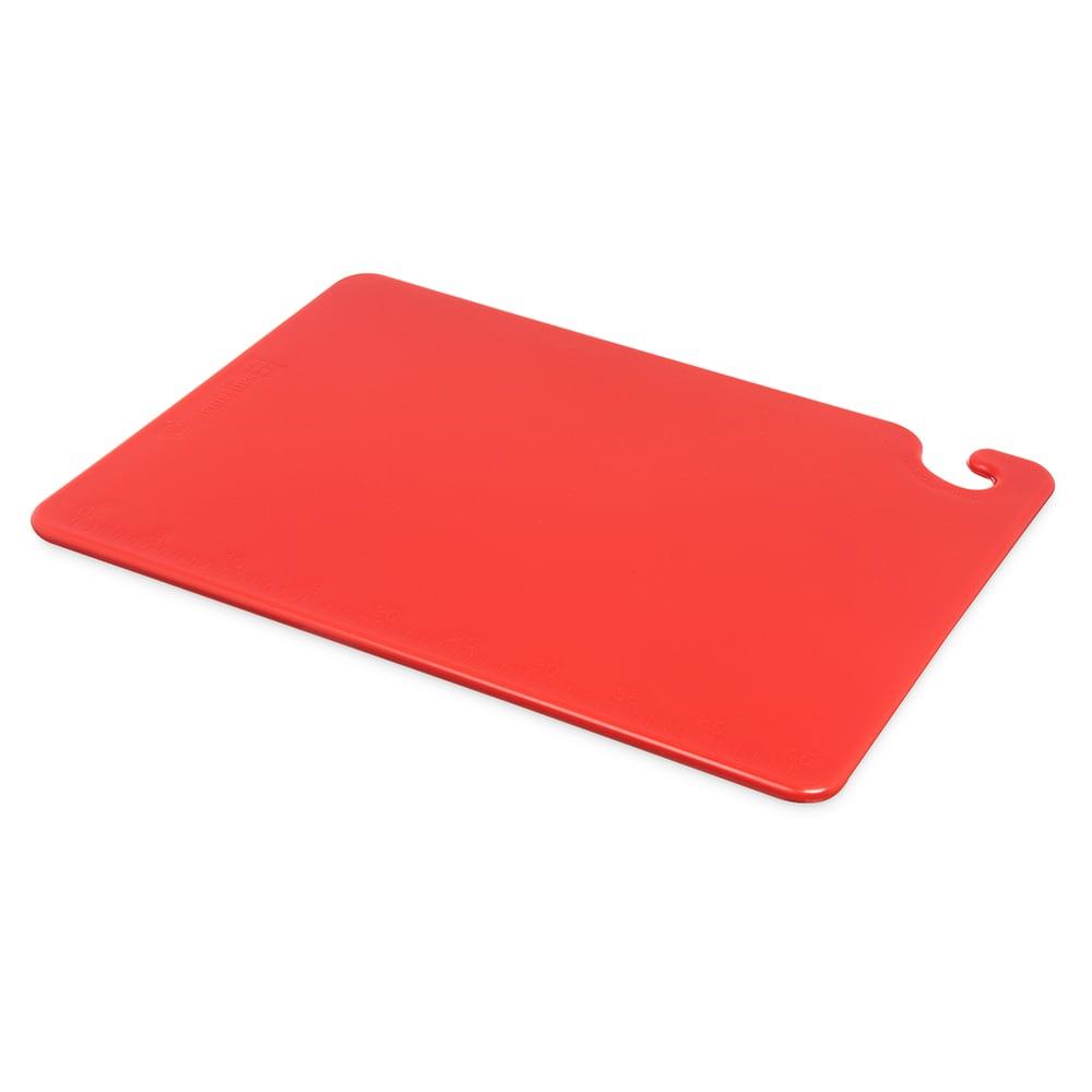 San Jamar CB152012RD Cut-N-Carry Cutting Board, 15 x 20 x 1/2 in, NSF, Red