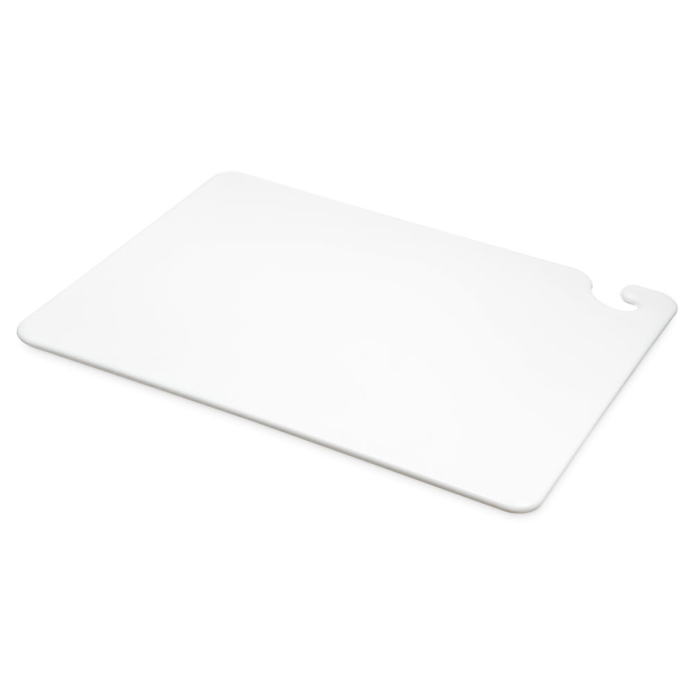 San Jamar CB152012WH Cut-N-Carry Cutting Board, 15 x 20 x 1/2 in, NSF, White
