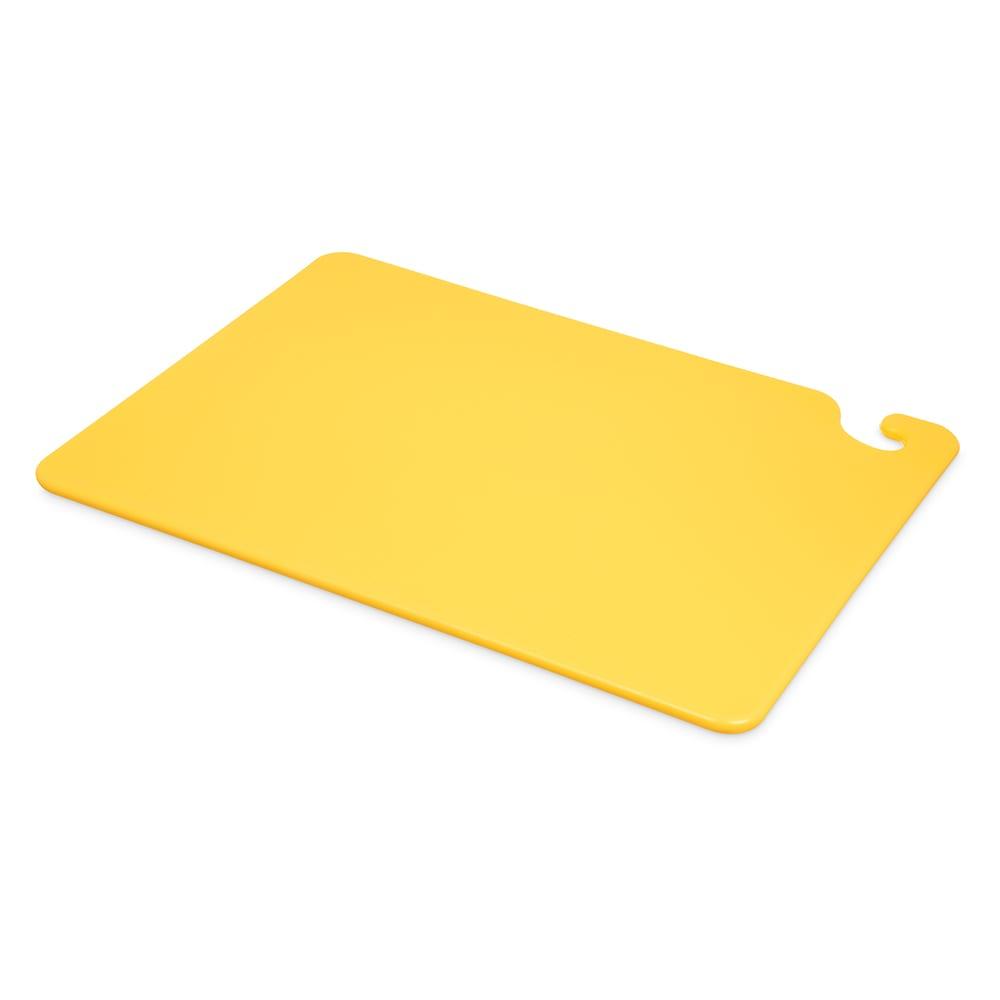 San Jamar CB152012YL Cut-N-Carry Cutting Board, 15 x 20 x 1/2 in, NSF, Yellow