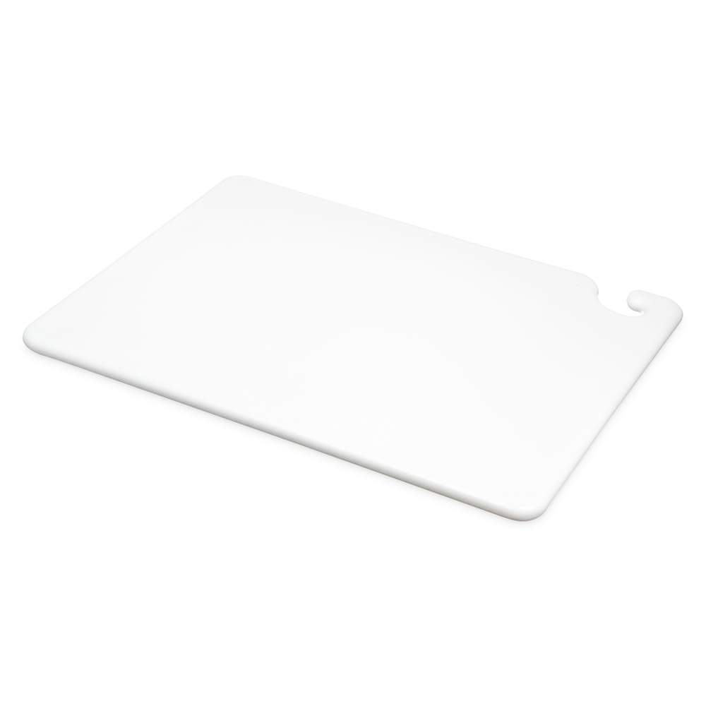 San Jamar CB152034WH Cut-N-Carry Cutting Board, 15 x 20 x 3/4 in, NSF, White