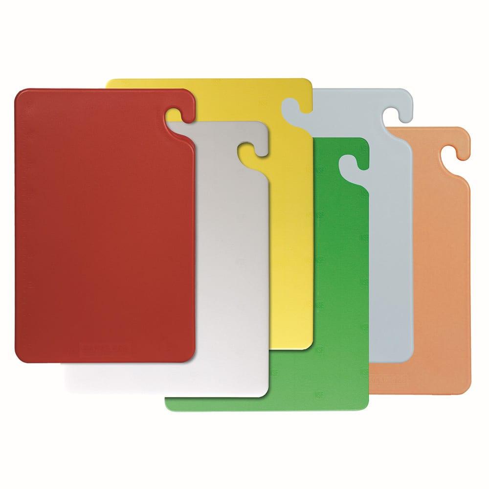 San Jamar CB1520KC Cut-N-Carry Cutting Board Set, 6 Boards (15x20) & 1 Wall Chart, NSF