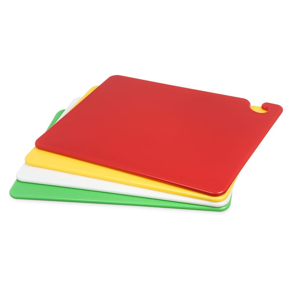 San Jamar CB1520QS Cut-N-Carry Cutting Board Set, 4 (15x20) & 1 Wall Chart, NSF