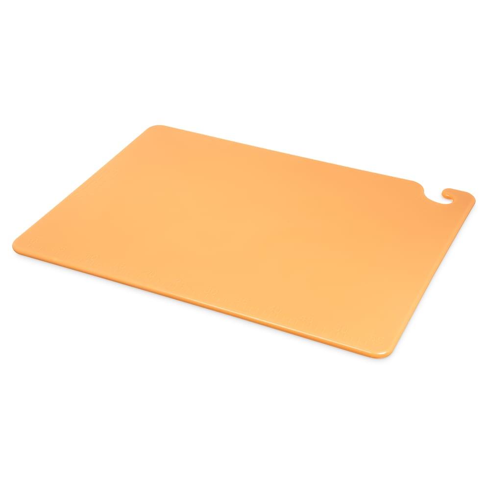 San Jamar CB182412BR Cut-N-Carry Cutting Board, 18 x 24 x 1/2 in, NSF, Brown