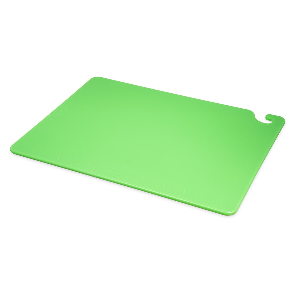 San Jamar CB182412GN Cut-N-Carry Cutting Board, 18 x 24 x 1/2 in, NSF, Green