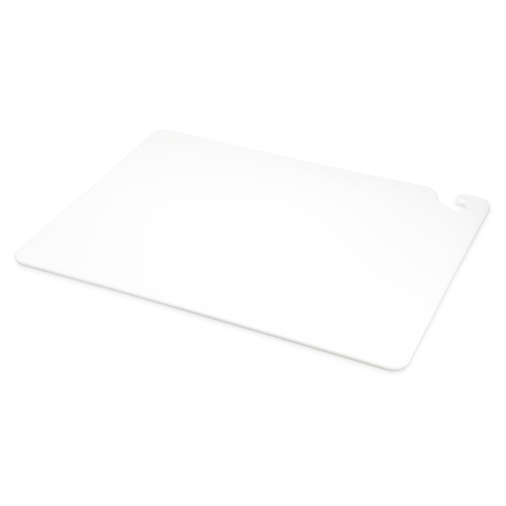 San Jamar CB182412WH Cut-N-Carry Cutting Board, 18 x 24 x 1/2 in, NSF, White