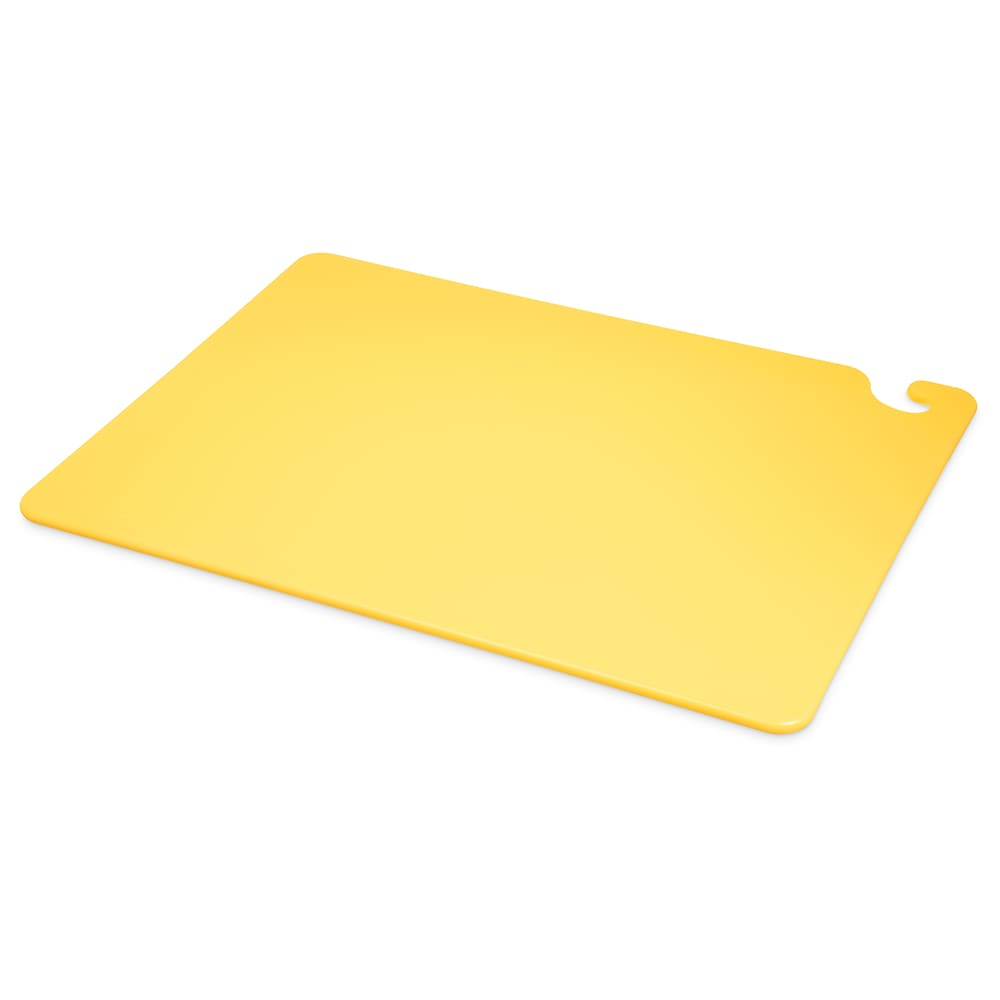 San Jamar CB182412YL Cut-N-Carry Cutting Board, 18 x 24 x 1/2 in, NSF, Yellow
