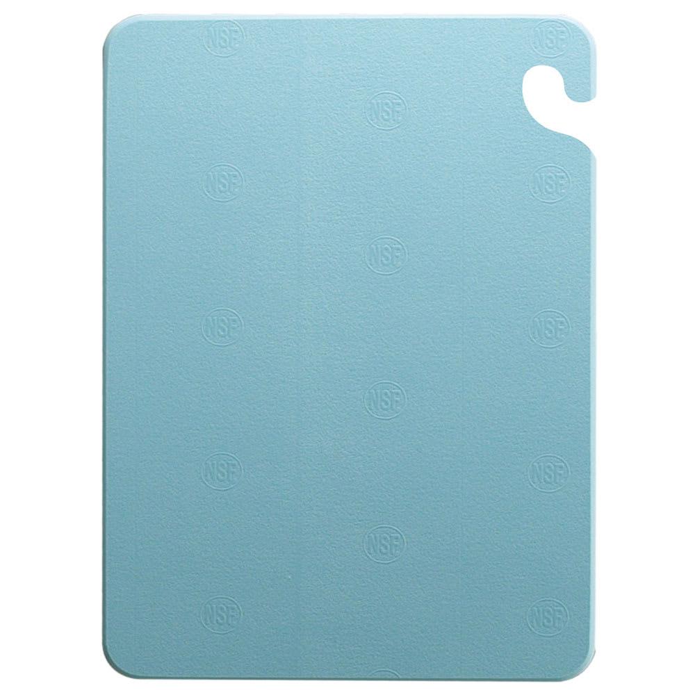 San Jamar CB182434BL Cut-N-Carry Cutting Board, 18 x 24 x 3/4 in, NSF, Blue