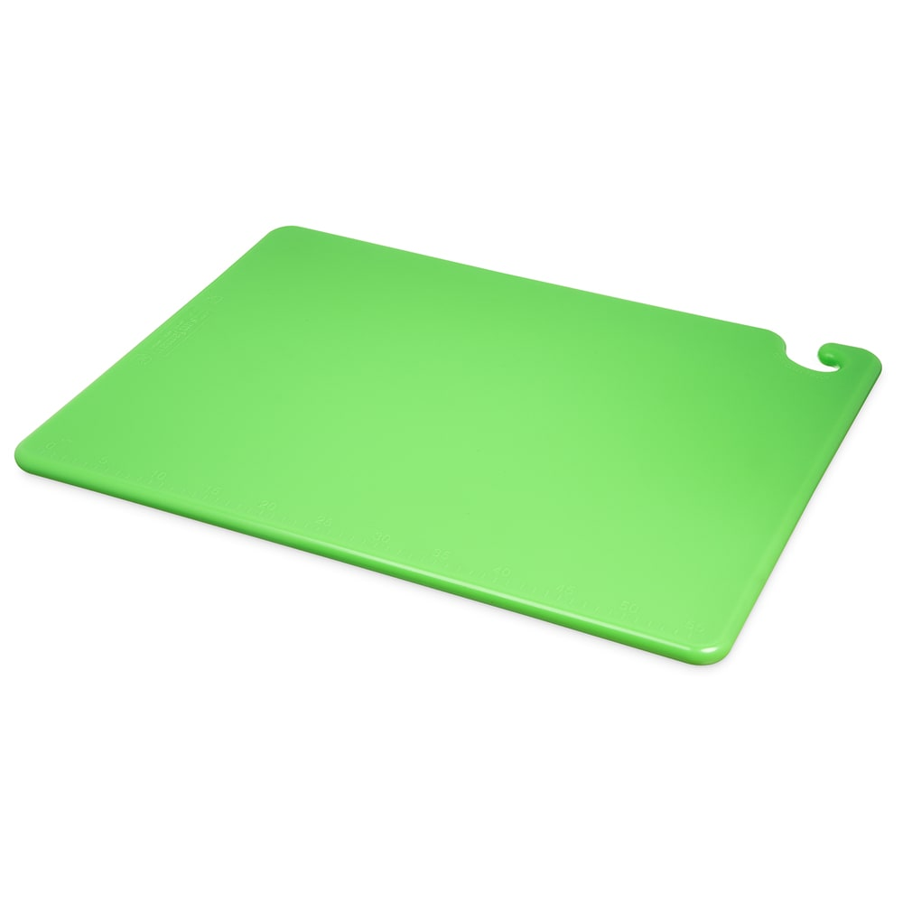 San Jamar CB182434GN Cut-N-Carry Cutting Board, 18 x 24 x 3/4 in, NSF, Green