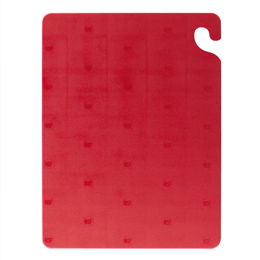 San Jamar CB182434RD Cut-N-Carry Cutting Board, 18 x 24 x 3/4 in, NSF, Red