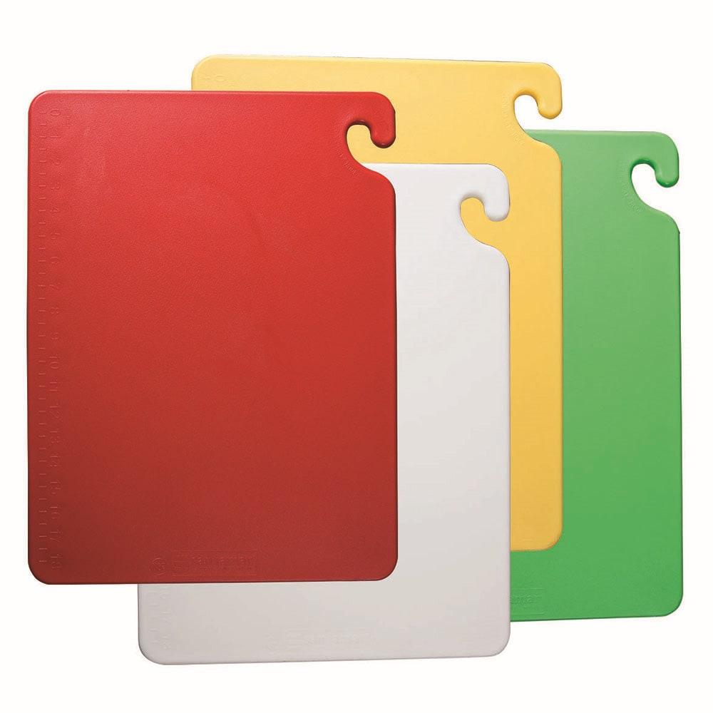 San Jamar CB1824QS Cut-N-Carry Cutting Board Set, 4 (18x24) & 1 Wall Chart, NSF