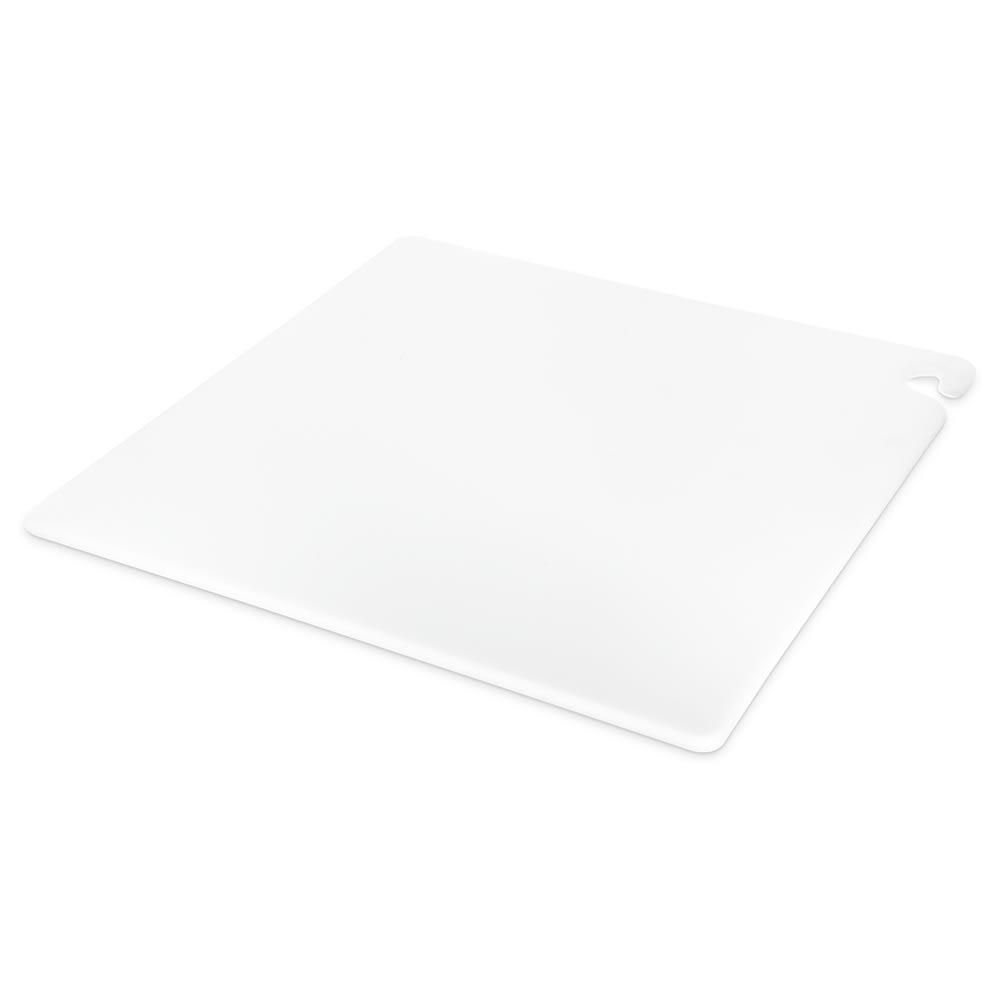"San Jamar CB242412WH Cut-N-Carry Cutting Board, 24"" X 24"" X 1/2 in, NSF, White"