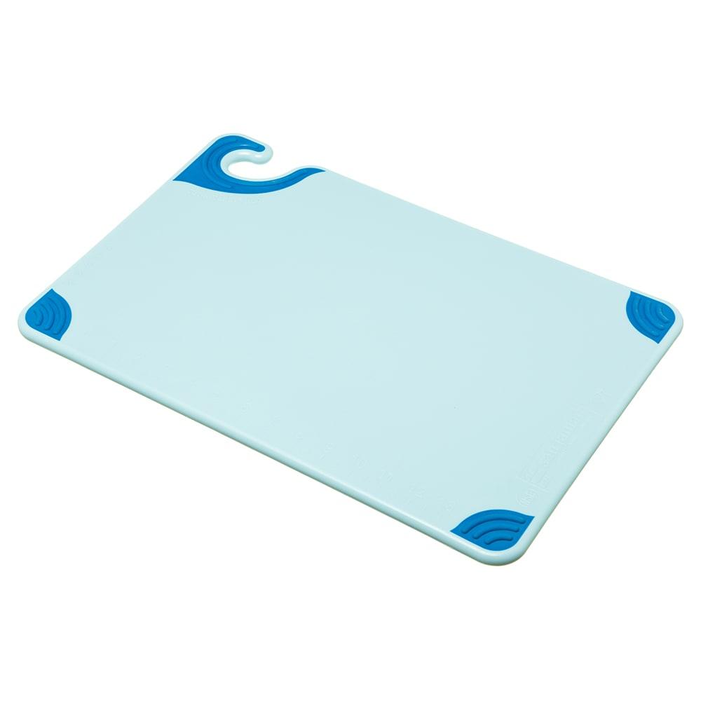 San Jamar CBG121812BL Saf-T-Grip Cutting Board, 12 x 18 x 1/2 in, NSF, Blue