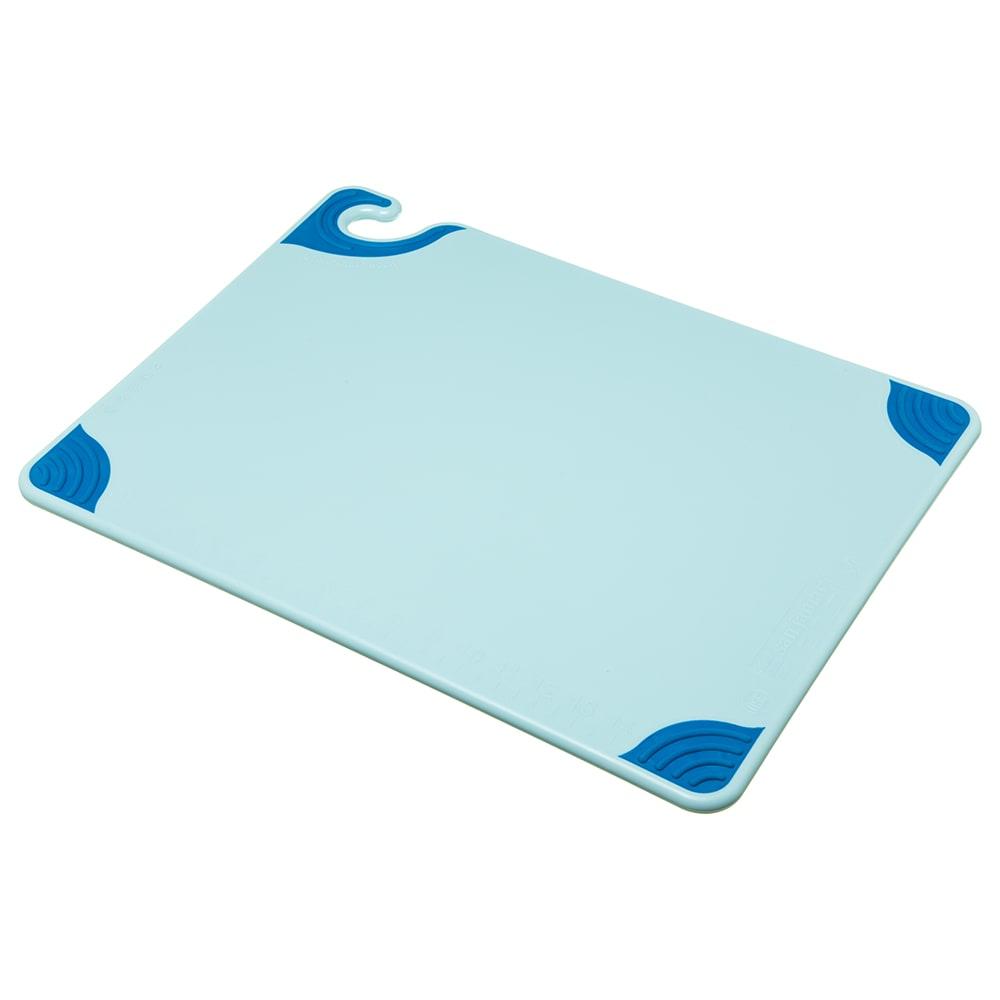 San Jamar CBG152012BL Saf-T-Grip Cutting Board, 15 x 20 x 1/2 in, NSF, Blue