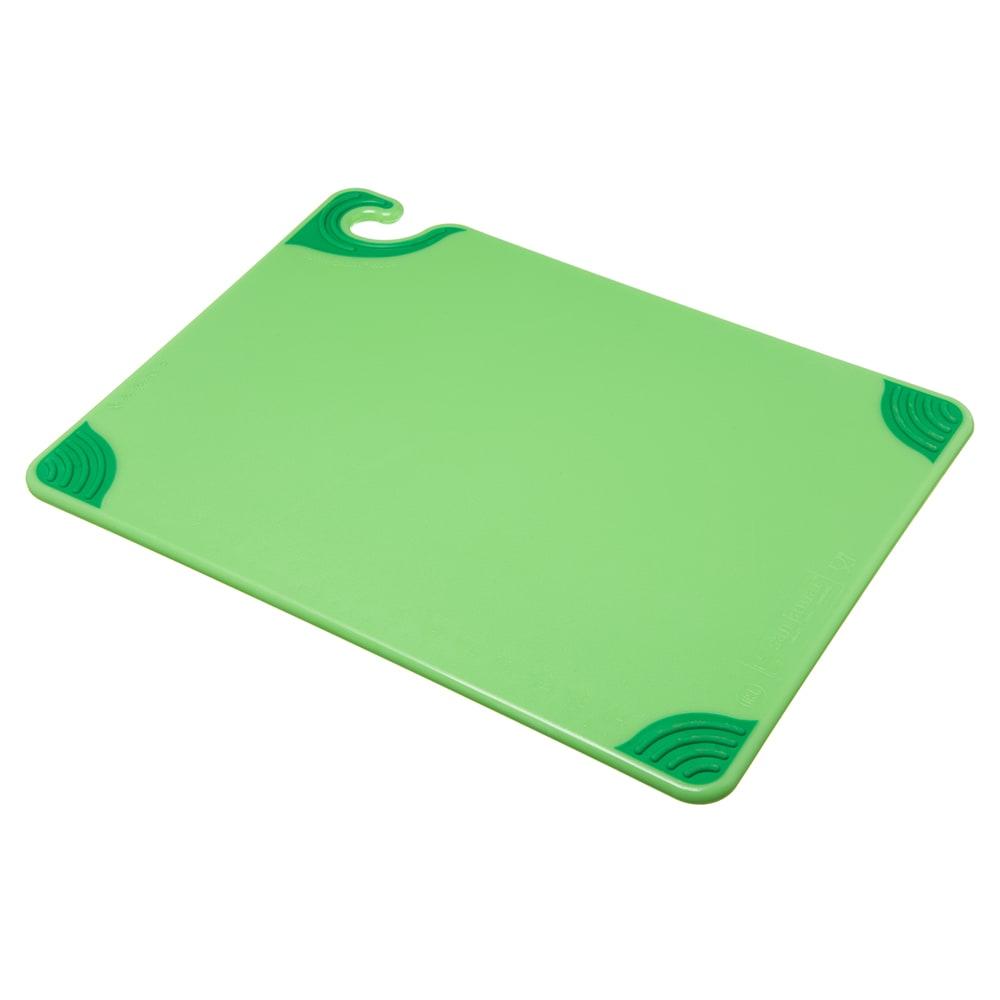 San Jamar CBG152012GN Saf-T-Grip Cutting Board, 15 x 20 x 1/2 in, NSF, Green