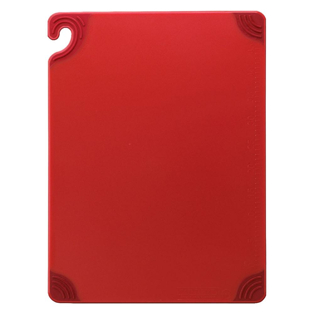San Jamar CBG152012RD Saf-T-Grip Cutting Board, 15 x 20 x 1/2 in, NSF, Red