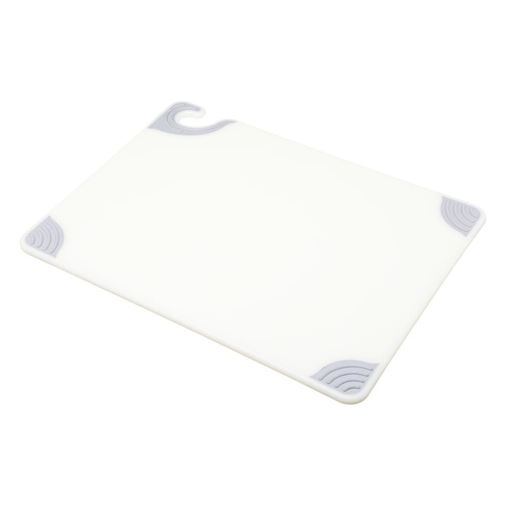 San Jamar CBG152012WH Saf-T-Grip Cutting Board, 15 x 20 x 1/2 in, NSF, White