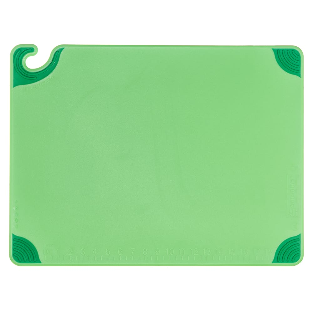 San Jamar CBG182412GN Saf-T-Grip Cutting Board, 18 x 24 x 1/2 in, NSF, Green
