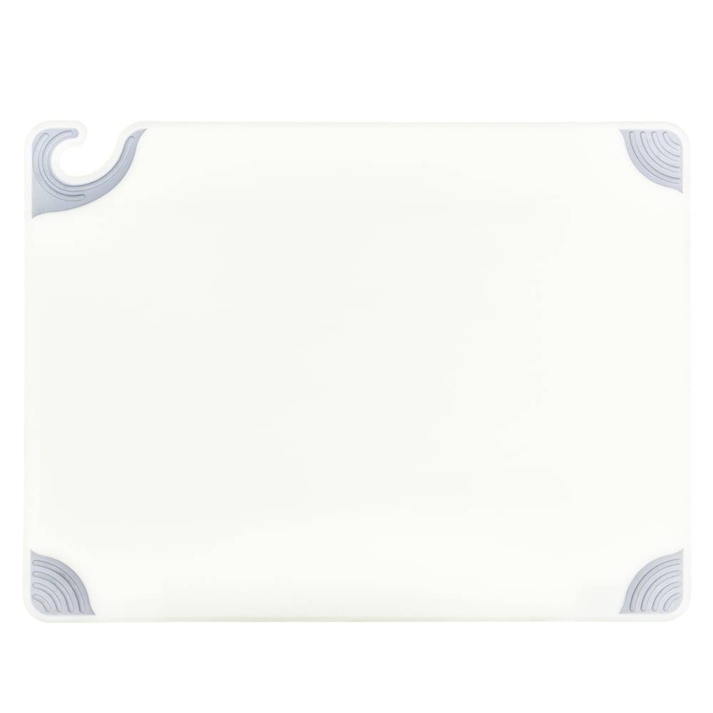 San Jamar CBG182412WH Saf-T-Grip Cutting Board, 18 x 24 x 1/2 in, NSF, White