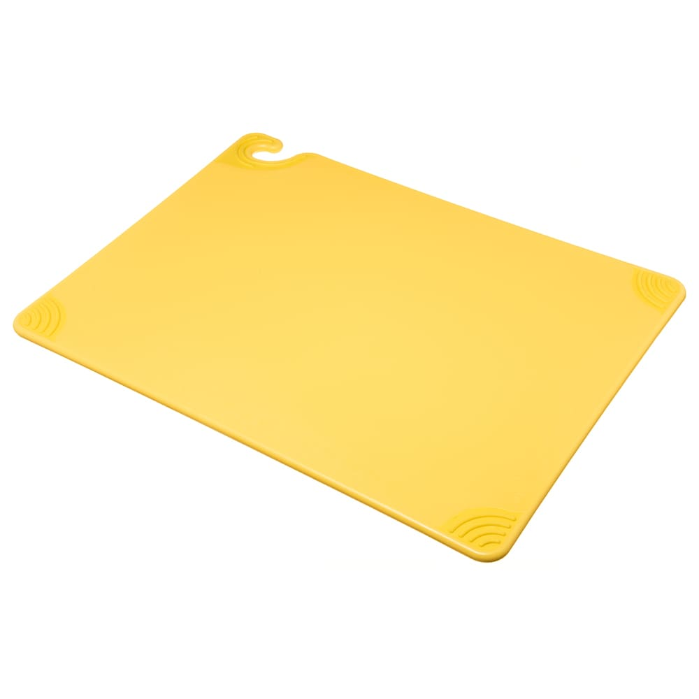 San Jamar CBG182412YL Saf-T-Grip Cutting Board, 18 x 24 x 1/2 in, NSF, Yellow