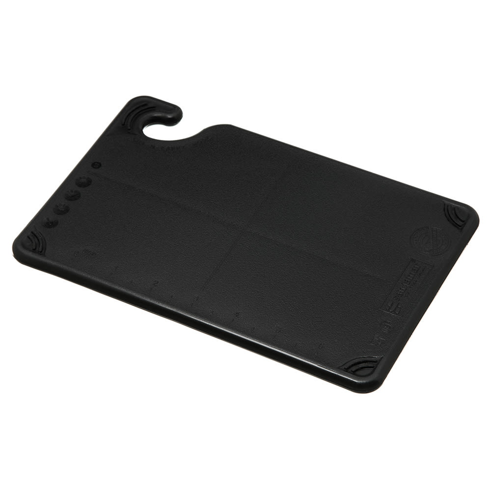 San Jamar CBG6938BK Saf-T-Grip Bar Cutting board, 6 x 9 x 3/8 in, NSF, Black