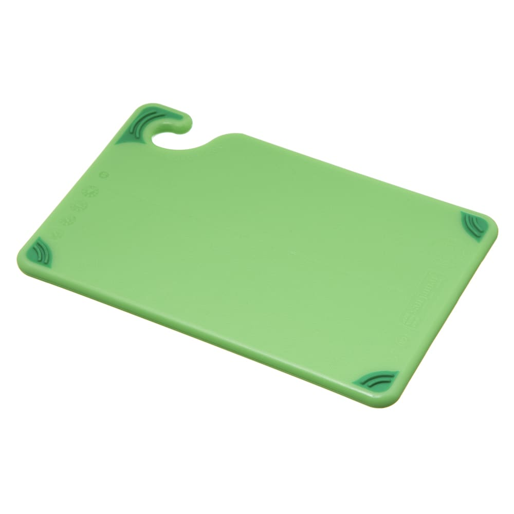San Jamar CBG6938GN Saf-T-Grip Bar Cutting board, 6 x 9 x 3/8 in, NSF, Green