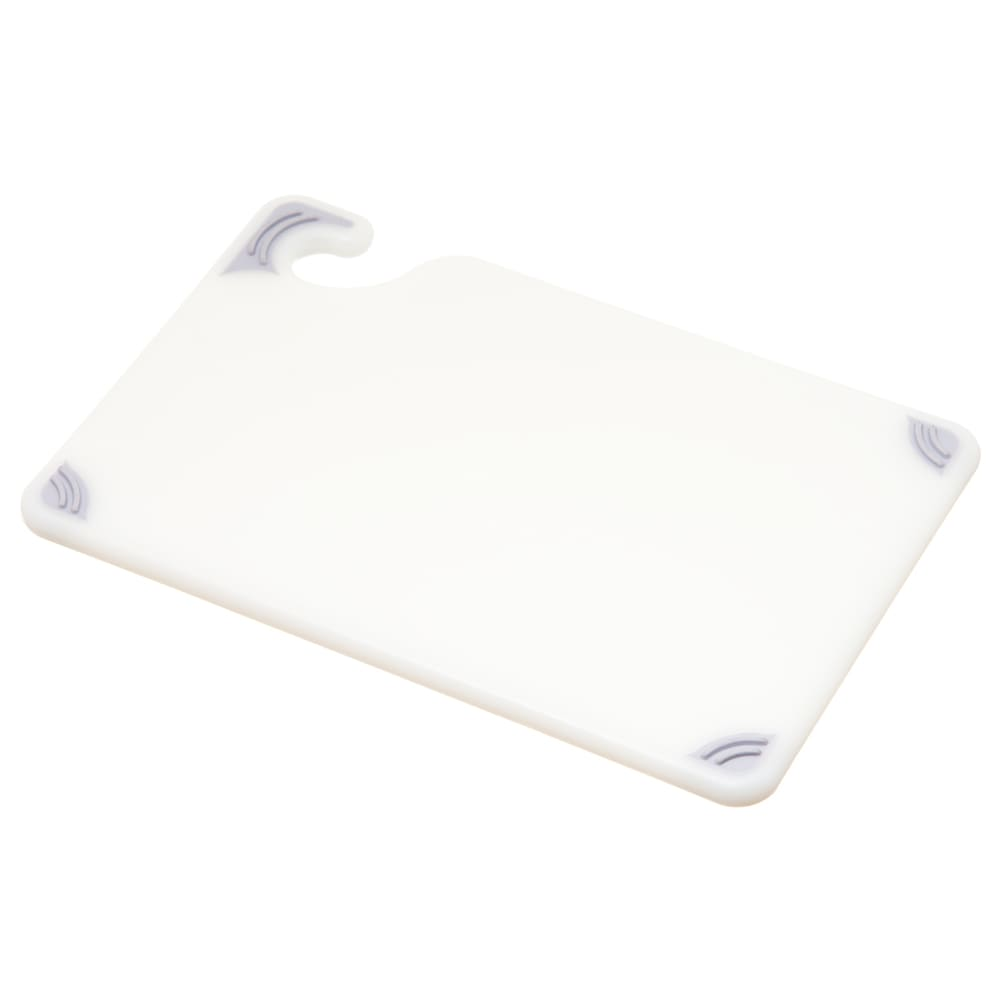 San Jamar CBG6938WH Saf-T-Grip Bar Cutting board, 6 x 9 x 3/8 in, NSF, White