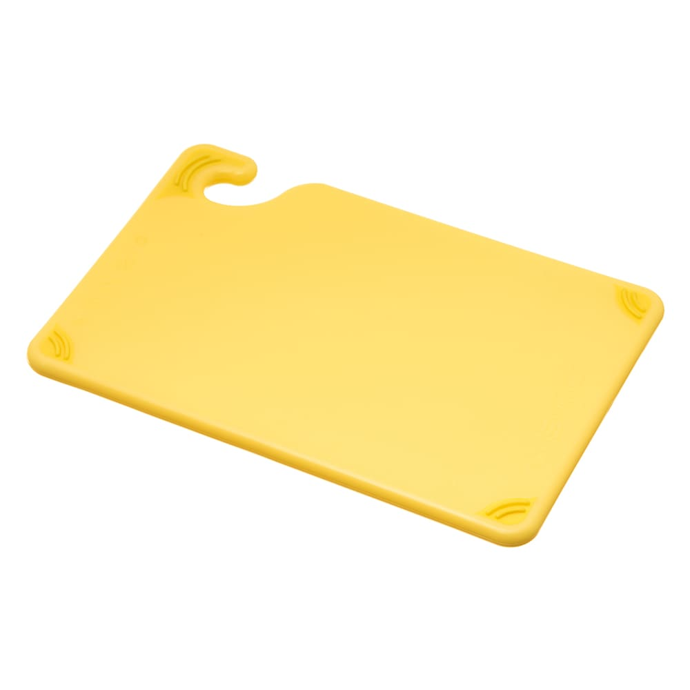 San Jamar CBG6938YL Saf-T-Grip Bar Cutting board, 6 x 9 x 3/8 in, NSF, Yellow
