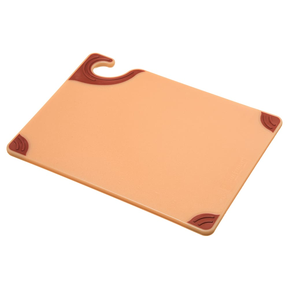 San Jamar CBG912BR Saf-T-Grip X-Pediter Cutting Board, 9 x 12 x 3/8 in, NSF, Brown